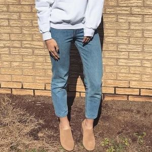 Vintage Calvin Klein tapered high rise mom jeans